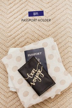 This DIY Passport Holder will protect while adding some style. Packing for Your Honeymoon with Macy's! #registrytoreality Photography: Keith Morrison - instagram.com/keithemorrison