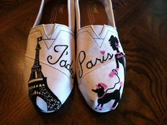 J'adore+Paris+Custom+Toms+by+123ShoesByMe+on+Etsy,+$80.00