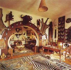 Museum of Africa in Balatonedics, Hungary.  Beautiful mount taxidermy