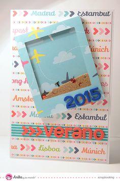 Shaker card paso a paso Birthday Card Messages, Birthday Cards, Tarjetas Diy, Interactive Cards, Cricut Cards, Shaker Cards, Scrapbook Embellishments, Card Tutorials, Diy Cards