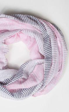Pink Stripe Summer Scarf lovelovelovelovelove