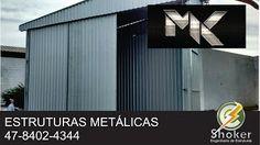 SHOKER ENGENHARIA DE ESTRUTURAS METÁLICAS: Galpão, Mezanino, em estruturas Metálicas, Blumena...