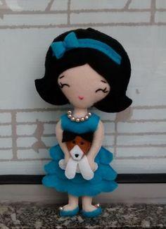 Chaveiro Deb com pet - feltro 15cm                     vitrine.elo7.com.br/1bdbab