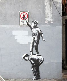 """Details about Banksy - """"Graffiti is a Canvas Print Urban Graffiti - """"The art world is the biggest joke,"""" he said. Banksy lives and works in the United Kingdom. Banksy Graffiti, Street Art Banksy, 3d Street Art, Arte Banksy, Urban Street Art, Amazing Street Art, Street Artists, Urban Art, Bansky"""