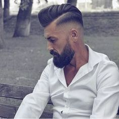 Men's Toupee Human Hair Hairpieces for Men inch Thin Skin Hair Replacement System Monofilament Net Base ( Hair Toupee, Mens Toupee, Hairstyles Haircuts, Haircuts For Men, Handsome Bearded Men, Beard Haircut, Hair And Beard Styles, Hair Pieces, Hair Cuts