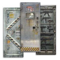 The Sci-Fi Themed Door Decals