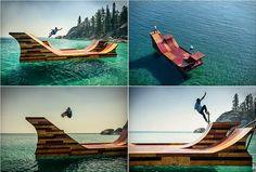 Amazing Floating Skate Ramp