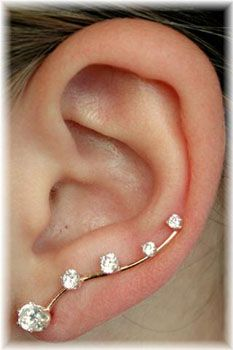 so cute! Graduated CZ Ear Pin - Deluxe