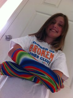 cast covers are definitely cheering this customer up! Not only are they cheerful, they keep her cast clean, protected and free from scratching!