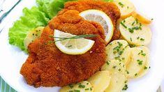 Empanadas, Wiener Schnitzel, Salmon Burgers, Carne, Potato Salad, Meat, Chicken, Ethnic Recipes, Food