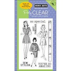 Hero Arts Clear Sew Stylish Stamps
