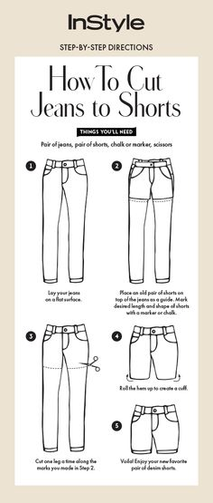 Follow this guide to make the perfect pair of shorts from a pair of jeans.