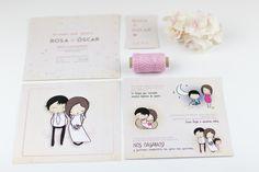 Invitación de boda de Rosa & Oscar!