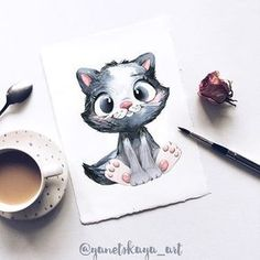 Exciting Learn To Draw Animals Ideas. Exquisite Learn To Draw Animals Ideas. Cute Animal Drawings, Animal Sketches, Pencil Drawings, Cute Drawings, Animal Illustrations, Cute Animal Videos, Cute Animal Pictures, Coffee Draw, Art Simple