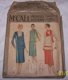 McCall 5343; ©1928; Ladies' & Misses' Dress