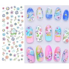 Flower Series Nail Water Decal Stickers