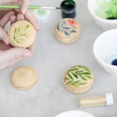 Watercolor Florals Paintings on French Macarons DIY video tutorials