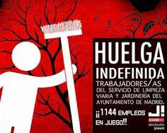 Madrid: los trabajadores de limpieza viaria y jardinería han vencido después de 12 días de huelga Marta Rojo · · · · ·