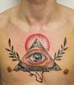 Nice tattoo work. His nipples are distracting though, they look like they're supposed to be an element of the work. lol.