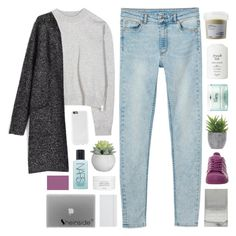 """""""sunshine in an empty place"""" by feels-like-snow-in-september ❤ liked on Polyvore featuring Monki, Acne Studios, adidas, Fresh, Davines, philosophy, Lux-Art Silks, NARS Cosmetics, Byredo and ASOS"""