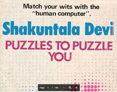 Shakunthala Devi Puzzles Pdf Book