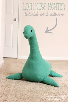 Bailey is getting a Lochness Monster!!!!!!!! We Lived Happily Ever After: DIY Nessie | Pattern and Tutorial