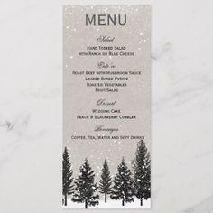 Winter Forest Wedding Menu