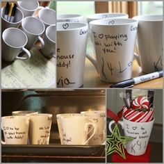 dollar store mugs your childs handwriting = a great personalized gift for Grandma, Grandpa, Aunts, Uncles, and friends