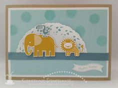 Stampin Up Zoo Babies Famose fähnchen Baby 01