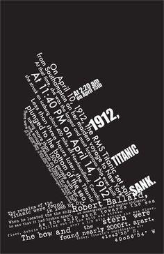 Titanic Facts Typography