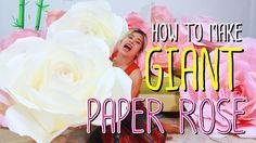 How to make GIANT PAPER ROSE by Madammouth - มาดามเม้าท์สอนทำกุหลาบกระดา...
