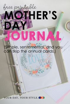 DIY Mother's Day Gift - make a journal to add to annually for moms and grandmas Diy Mothers Day Gifts, Mothers Day Gifts From Daughter, Mothers Day Crafts For Kids, Sister Gifts, Gifts For Mom, Diy Gifts, Birthday Presents For Mom, Mom And Grandma, Mother's Day Gift Card