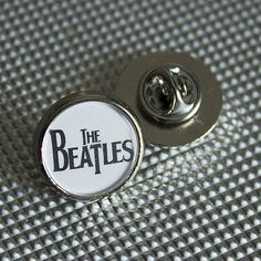 The Beatles White Round Lapel pin/ pin badge by WeeHings on Etsy