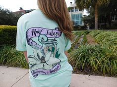 Charleston, SC is the Capitol City for Preppy Southern Ladies. This United Spring Tee puts 3 southern favorites together in 1 place- Mint Juleps Magnolias  Monograms