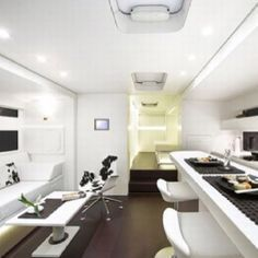 RV interior - I wish you could see it all in this photo. To the right is the kitchen, the whole thing is beautiful.