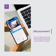 This means you should be adding subtitles to Facebook videos and looking to up your sound game on Instagram in order to attract more people.      #socialmedia #didyouknow #socialmediamarketing #DYN #til #marketing #trivia #social #branding #digitalmarketing #marketingdigital #socialmarketing #semplicity #bebold #beawesome #seo #contentmarketing #getcreative #socialmediatips #inspired