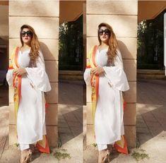Pakistani Couture, Pakistani Outfits, Indian Outfits, Punjabi Dress, Punjabi Suits, White Anarkali, Suits For Women, Clothes For Women, Trendy Suits