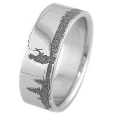 Men 39 S Rings On Pinterest Titanium Rings Deer Antler