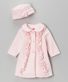 Look what I found on #zulily! Pink Ruffle Coat & Hat - Infant & Toddler by Good Lad #zulilyfinds
