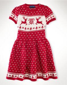 Ralph Lauren Little Girls' Reindeer Sweater Dress - Kids Girls Dresses - Macy's Reindeer Sweater, Ralph Lauren, Little Girl Fashion, Girls Sweaters, Dresses Online, Dress Skirt, Fashion Dresses, Girls Dresses, Two Piece Skirt Set