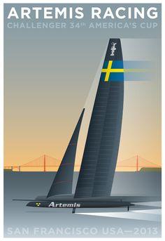 Artemis Racing: Кубок Challenger 34-й американский - Graphis