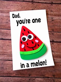 Here are cute Father's Day Crafts that are perfect for showing dad how loved & appreciated he is! These crafts are a great DIY Father's Day gift ideas! Free Fathers Day Cards, Kids Fathers Day Crafts, Fathers Day Art, Happy Fathers Day, Gifts For Kids, Homemade Fathers Day Card, Homemade Cards, Fathers Day Ideas, Homemade Things