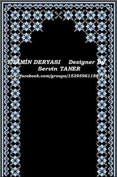Cross Stitch Flowers, Cross Stitch Patterns, Arabesque Pattern, Cross Stitch Boards, Prayer Rug, Embroidery Designs, Diy And Crafts, Prayers, Quilts