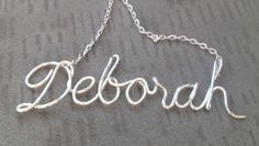 A few days ago I ran across a pretty little lettered necklace  on Pinterest.     via     With my sister  and my sister in law's  birthdays ...