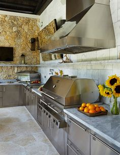 """Nice Coral Gables, Florida outdoor kitchen featured in my latest.....  """"Dress to Grill"""" .. Sophisticated Skewers (Part 4)"""