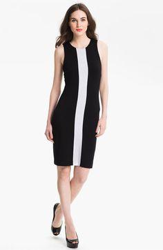 Karen Kane Sleeveless Contrast Dress available at #Nordstrom
