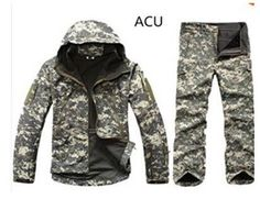Camo Jacket Waterproof Hunting Camouflage Hoodie Military Jacket and Camouflage Pants