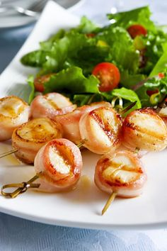 Bacon Wrapped Scallops paired with Knights Valley Merlot from Ledson Winery & Vineyards