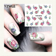 0.1$  Buy here - YZWLE 1 Sheet DIY Nails Art Deals Water Transfer Printing Stickers Accessories For Manicure Salon YZW-8042   #aliexpress