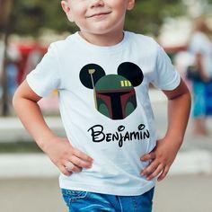 Digital Star Wars Boba Fett Mickey Ears Iron On Transfer Design, Custom Name Shirt, Children's Clothing, Wall Art Print, Mouse Ear Printable by digitaldesigns4tees on Etsy https://www.etsy.com/listing/517092999/digital-star-wars-boba-fett-mickey-ears